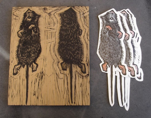 Rat Bookmark